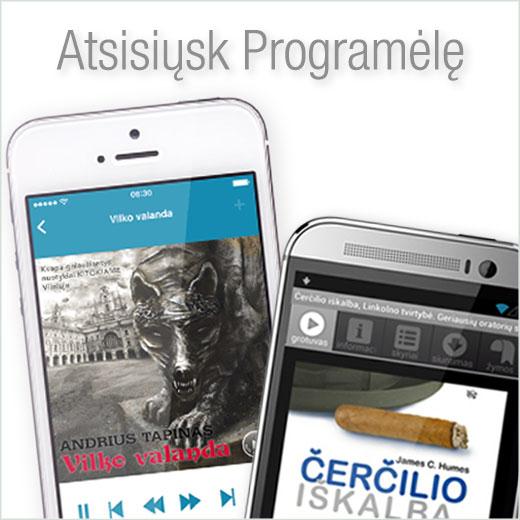 Atsisiųskite Audioteka LT Programėlę ir klausykite savo audio knygų bet kur