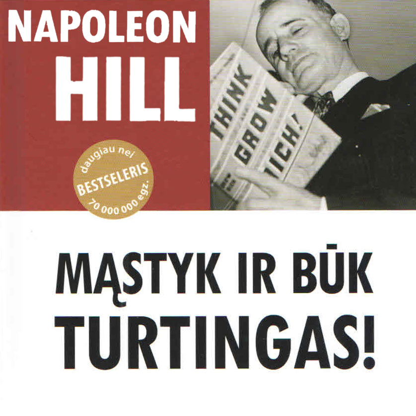 "Napoleon Hill audioknyga ""Mąstyk ir būk turtingas!"""